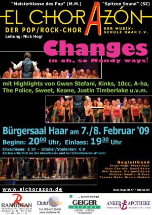 "Plakat ""Changes in oh, so Mandy ways"""